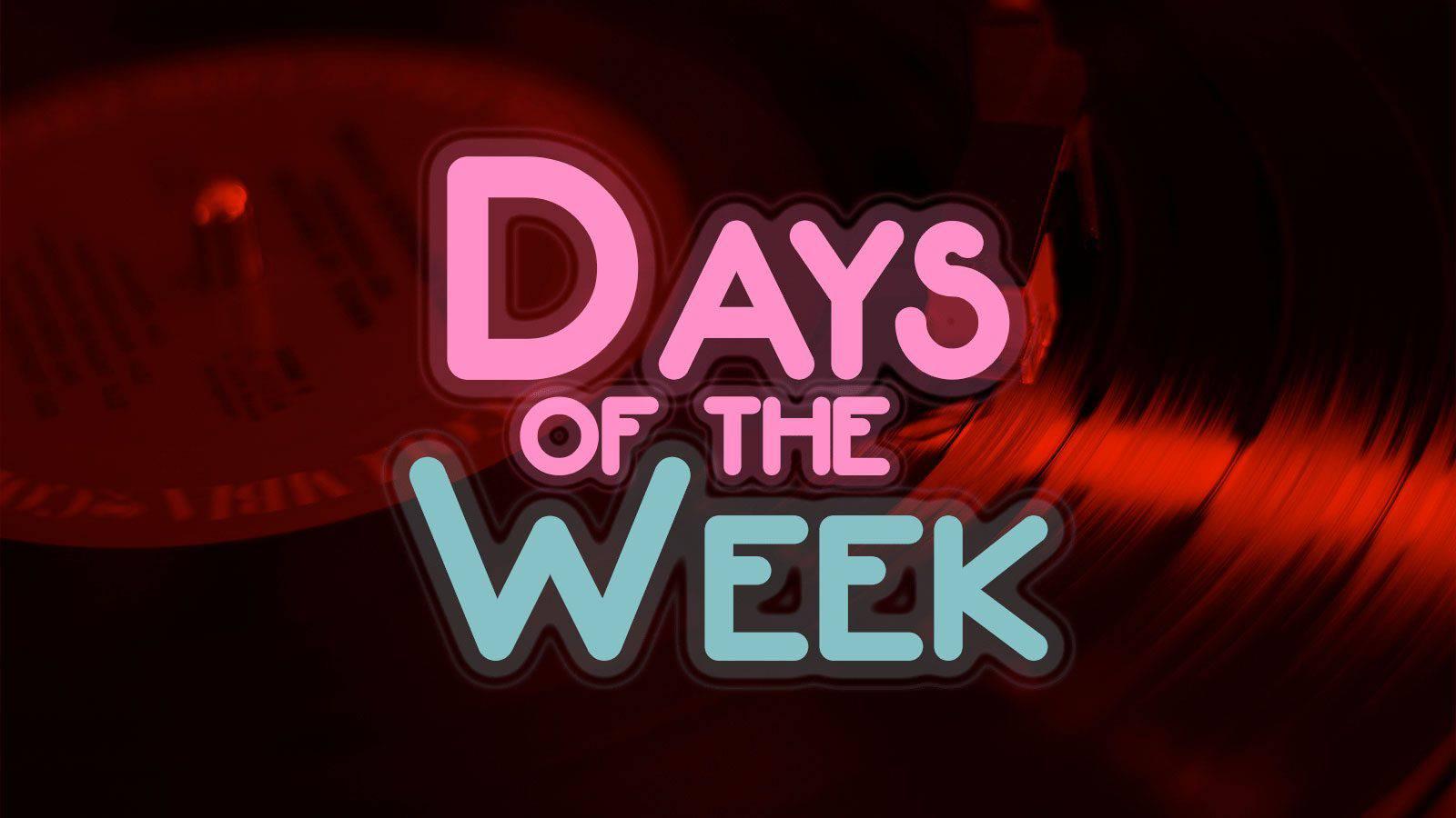 Les jours de la semaine en anglais (dans le style de la série télé Happy Days)