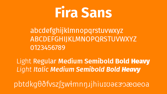 Fira Sans, une excellente police pour l'Alphabet Phonétique International, anglais ou autre