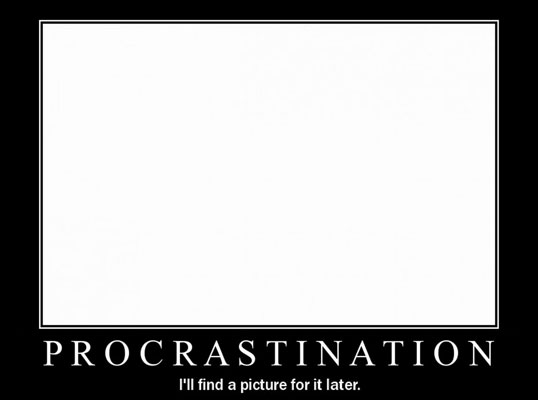 Procrastination (une illustration pleine de motivation)