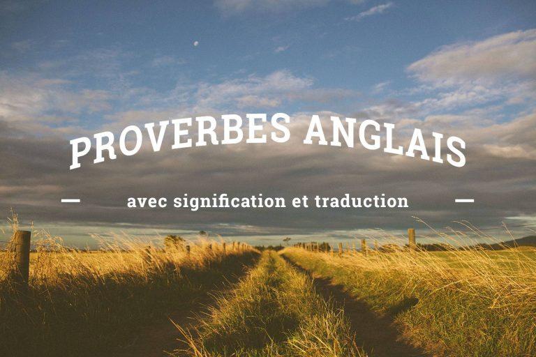 Proverbes anglais