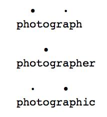 Accent tonique example avec points