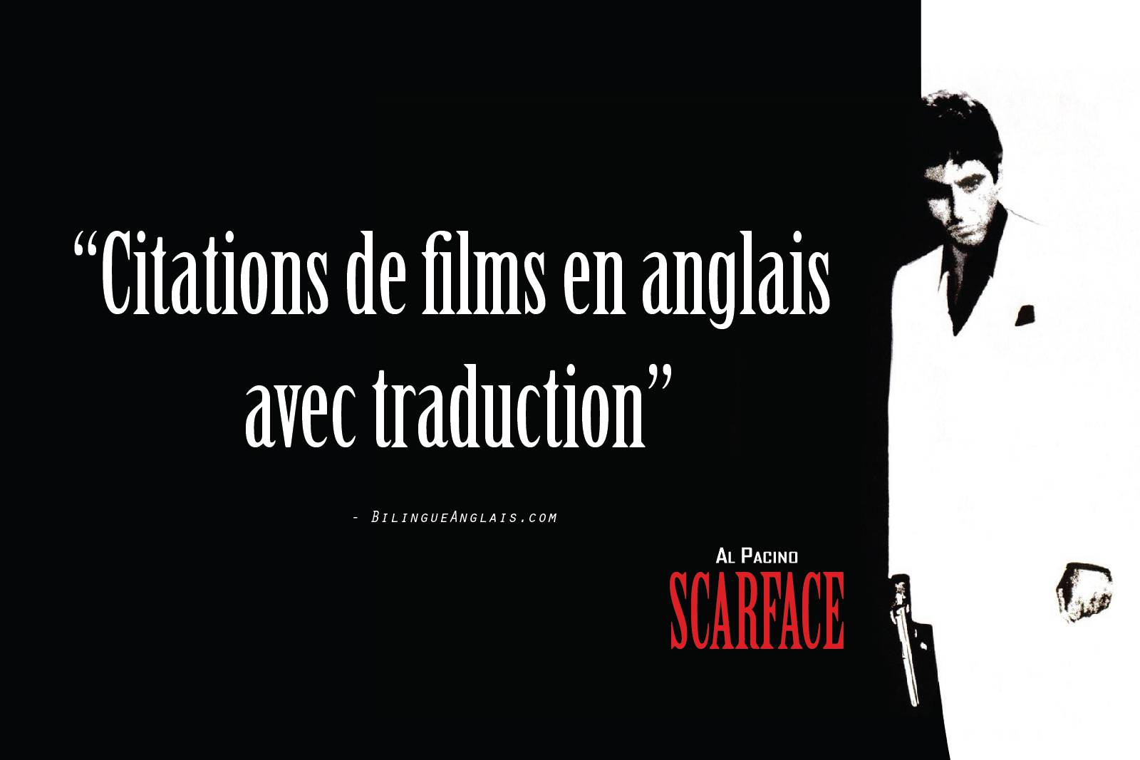 Citations de films en anglais avec traduction · Phrases cultes en