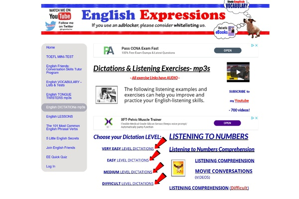 Dictées en anglais américain sur English Express Yes