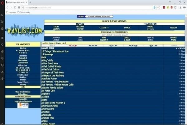Wavelist pour trouver de l'audio avec avec les films
