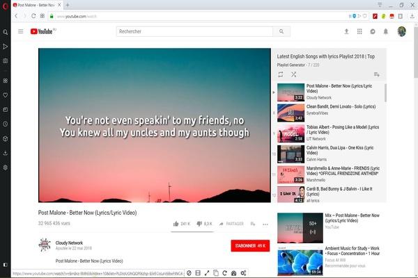 YouTube pour apprendre l'anglais en chanson