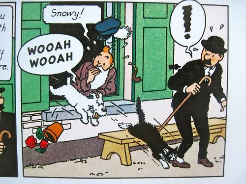 Les cris d'animaux dans la traduction anglaise de Tintin