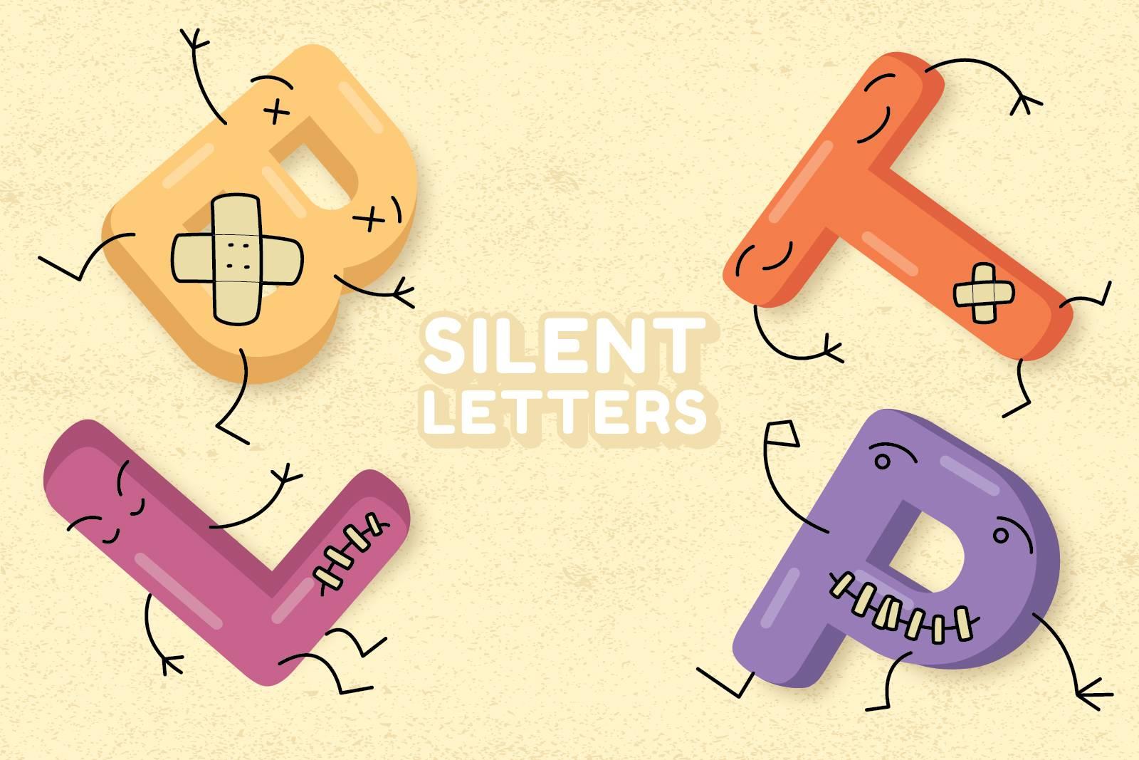 Lettres muettes en anglais : B, L, T, P