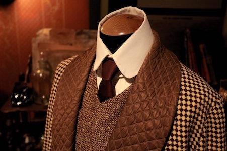 Veste en tweed typique d'un prof d'anglais vieille école